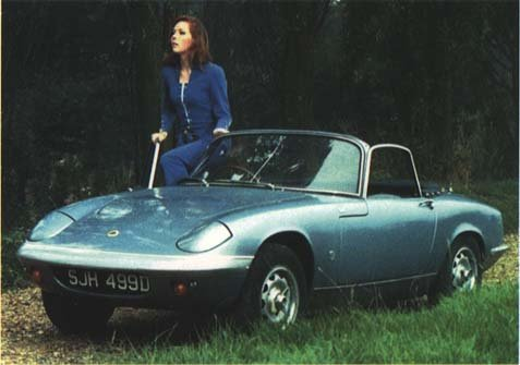 Emma Peel and her Lotus Elan