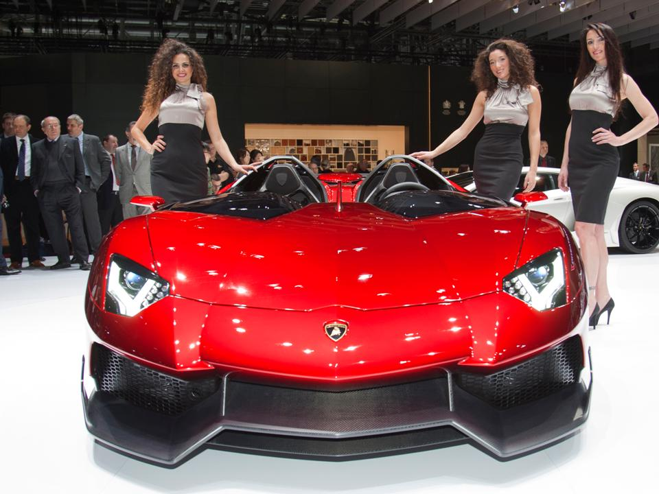 Power And Enormous Presence Are Exemplified With The Ultra Exclusive Lamborghini  Aventador J. Its Design Is Radically Open, Devoid Of A Roof Structure And  ...