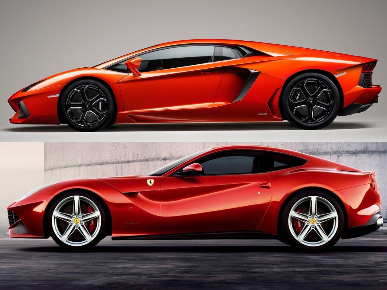 Ferrari F12berlinetta vs Lamborghini Aventador LP 700-4 ...