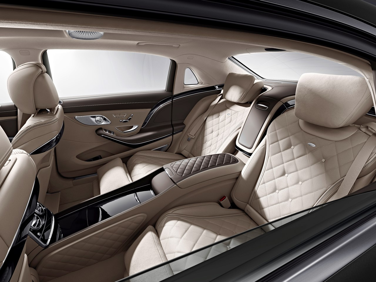 Reclining rear seats have extra cushions for the headrests & Mercedes-Maybach S500 | NotoriousLuxury islam-shia.org