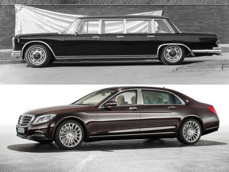 1964 Mercedes-Benz 600 Pullman and Mercedes-Maybach S600 saloon