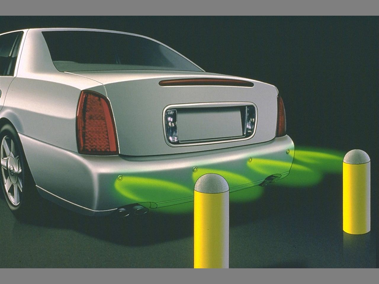 Ultrasonic rear parking assist